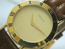 GUCCI 3000.2.M GOLD MEN'S VINTAGE SWISS MADE WATCH BOX