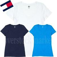 NWT WOMEN'S TOMMY HILFIGER SS STRIPED POCKET CREW NECK TEE