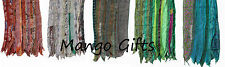 Vintage Old Silk Sari Recycled Scarf Stoles Patchwork scarves Wholesale Lot 5 Pc