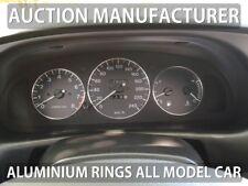 Mazda Xedos 6 9 1992-2002 Polished Aluminium Dial Surrounds Speedo Rings 3pcs
