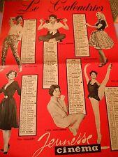 Calendrier 1961 Jeunesse Cinéma Marilyn Monroe Geneviève Cluny