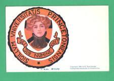 1905 F. EARL CHRISTY COLLEGE GIRL POSTCARD PRINCETON UNIVERSITY COLLEGE SEAL