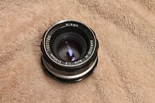 Nikon Nikkor-H Auto 50mm F2 lens Non Ai