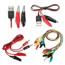 Alligator Test Lead Clip To Banane Plug Test Clips to USB NEW