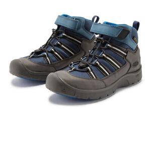 Keen Boys Hikeport 2 Sport Waterproof Walking Boots Black Blue Sports Outdoors