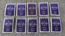 FACIALE FRANCE, LOT de 500 ANCIENS FRANCS AF, 10 TIMBRES NEUF DE 50 FR