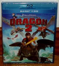 COMO ENTRENAR A TU DRAGON 2 COMBO BLU-RAY+DVD NUEVO PRECINTADO (SIN ABRIR) R2