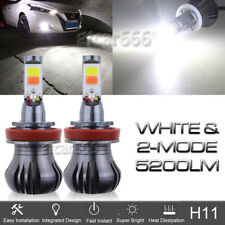 2x H11 H8 H9 LED Fog Light Bulbs Car Driving Lamp DRL 6000K HID White Flash Mode