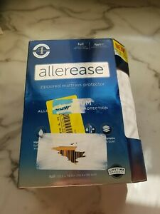 AllerEase Full White FlexFit Maximum Mattress Zip Allergy Protector FULL SIZE