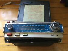 Vintage SONY FM/AM Solid State Portable Car TRANSISTOR RADIO Model 7F-74DL 11
