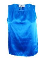 Le Suit Women's Glazed Melange Blouse 10, Cerulean