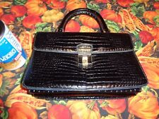VINTAGE COBLENTZ SYNTHETIC ALLIGATOR AND LEATHER HANDBAG PREOWNED / USED