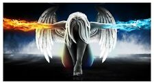 Angel Wings - Abstract Women Fire And Ice Large Poster / Canvas Picture Prints