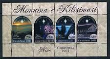 Niue 2011 Christmas 4v MS MNH