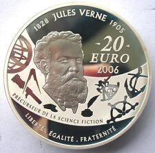 France 2006 Jules Verne EN Ballon 20 Euro 5oz Silver Coin,Proof