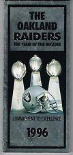 1996 Los Angeles Raiders NFL Football Media GUIDE