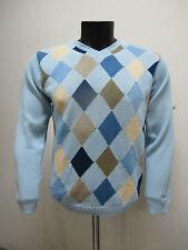 GANT maglione uomo cotone scollo a V 87091 col.CELESTE TG.M estate 2009