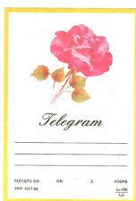 TELEGRAMME POLOGNE   ROSE ANNEE 1985
