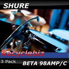 Shure Beta 98amp [3 PACK] Microphone 98 amp/c 98 Mic Free US 48 State Ship!