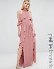 High Neck Maxi Dress with Frills by TFNC Petite Wedding UK 18 SIZE