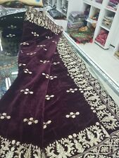 Designer Heavily Embroidered Velvet Shawl/  embroidered Black with gold embroide