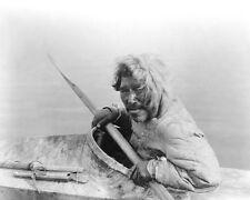 NOATAK SEAL HUNTER IN KAYAK EDWARD S. CURTIS 8x10 SILVER HALIDE PHOTO PRINT
