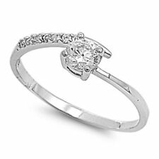 .925 Sterling Silver .50ct Simulated Diamond Size 8 Classic Promise Ring S66