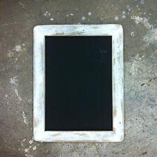A3 Distressed White Recycled Timber Chalkboard, Old Skool Retro Blackboard,