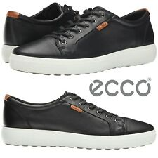 ECCO Soft 7 Sneakers Men's Casual Shoes Moccasins Oxfords Comfort Walking Black