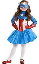 Captain America Dream Girl Classic Child Costume SIZE 3T-4T Marvel Comics 328