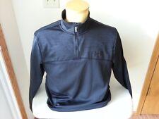 Under Armour black long sleeve 1/2 zip with black logo - mens medium loose