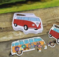 Official VW Campervan Mini Travel Jigsaw Puzzles Tin Gift Set of 2 Puzzles