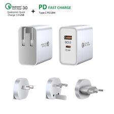 QC 3.0 Wandstecker PD 18W Typ-C USB Wandladegerät Adapter Für iPhone 12 12Pro 11