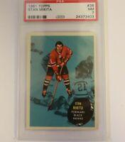 1961 Topps #36 Stan Mikita PSA 7