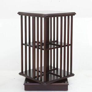 Solid Mahogany Timber Revolving Bookcase Antique Edwardian Style