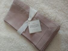 pottery barn pb flax linen classic napkin new set of 4 rare color dust pink