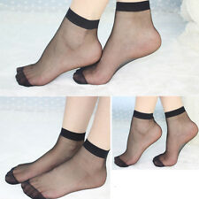 4 / 5 Pairs Ultra-thin Women Elastic Silky Short Silk Stockings Ankle Soc Sale