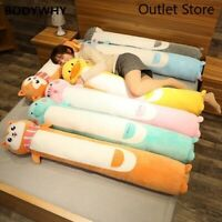 New Animals Plush Long Pillow Cute Cartoon Plush Toy Soft Stuffed Cushion Gift