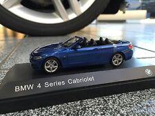 Bmw 4er cabrio f33 escala 1:43 color estorilblau/scale 1:43 estoril Blue