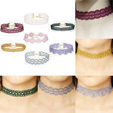 Retro Hollow Lace Choker Chain Flower Necklace Lady Collar Chocker Jewelry、New