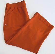 Chicos Zenergy Womens Pants Sporty Pima Cotton XL Yoga Orange Sz 3 $68 NWT