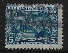 US Scott #550, Single 1920 Signing of the Compact 5c FVF Used