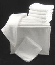 Pack of 12 White Face Cloths Towels 100 Cotton Flannels Wash Cloths 450 GSM