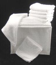 BIANCO Asciugamani Viso lavare panni Flannels 100% COTONE 450gsm Confezione da 12