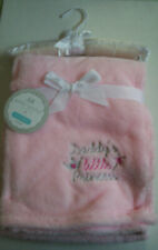 """Baby Blanket, """"Daddy's Little Princess"""" By Regent Baby, Girl, Pink, 30"""" x40"""",New"""