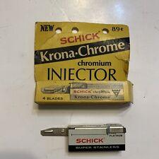 Vintage Schick Injector Blades | Set Of 2 | 19 Total Blades
