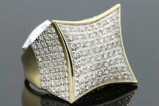10K SOLID YELLOW GOLD 3.50 CARAT REAL DIAMOND ENGAGEMENT RING WEDDING PINKY RING