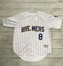 Majestic MLB Milwaukee Brewers #8 Ryan Braun's Button up Jersey Size 50