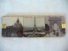 New listing Posavasos Paris 1900 Pictures on Six Waterproof Coasters