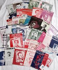 Lot of 44 Sheet Music Variety Male Vocalist Laine Prima Como Cole Mercer 1940-50